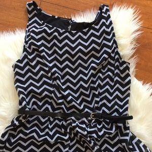 Corey P Dresses - Chevron Print Black and White Dress Size 10